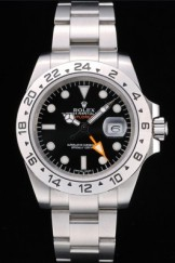 Rolex Swiss Top Replica 9209 Explorer Stainless Steel Bezel Black Dial Tachymeter
