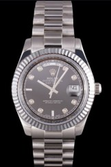 Rolex Top Replica 8790 Stainless Steel Strap Silver Luxury Watch 203