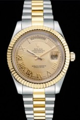 Rolex Top Replica 8792 Stainless Steel Strap Gold Luxury Watch 268