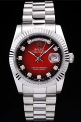 Rolex Top Replica 8803 Stainless Steel Strap Red Luxury Watch