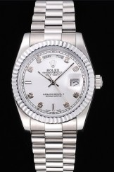 Rolex Top Replica 8818 Stainless Steel Strap Day-Date Luxury Watch