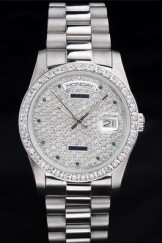 Rolex Top Replica 8804 Stainless Steel Strap Silver Luxury Watch