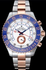 Rolex Yacht-Master II White Dial Blue Bezel Stainless Steel and Rose Gold Bracelet 622270