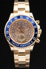 Rose Top Replica 8917 Gold Stainless Steel Strap Rolex Yacht-Master II Luxury Watch 243