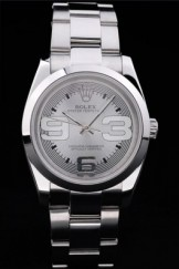 Rolex Top Replica 8877 Stainless Steel Strap Silver Luxury Watch
