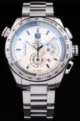 Men's Top Replica 7508 Stainless Steel Strap Tag Heuer Carrera White Dial Watch