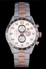 Tag Heuer Carrera Rose Gold and Stainless Steel Bracelet 801440