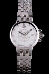 Tudor Clair de Rose White Dial Stainless Steel Band 621493