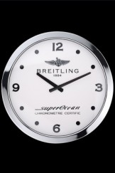 Breitling Superocean Wall Clock Silver-White 622463