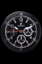 Hublot Big Bang King Power Wall Clock Black-Red 622468